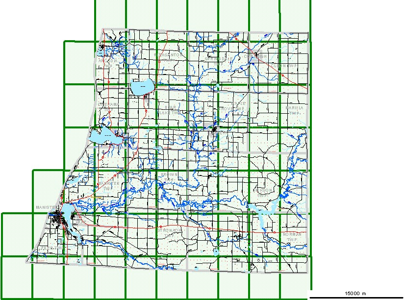 Manistee County MI Map Bing images